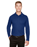 DG20LT Devon & Jones CrownLux Performance™ Men's Tall Plaited Long Sleeve Polo