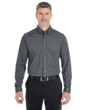 DG230 Devon & Jones Men's Central Cotton Blend Mélange Button Down