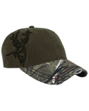 DI3307 Dri Duck Brushed Cotton Twill Buck 3D Cap