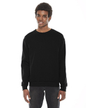 F496W American Apparel Unisex Flex Fleece Drop Shoulder Pullover Crewneck