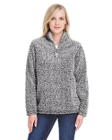 JA8451 J America Ladies' Epic Sherpa Quarter-Zip