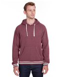 JA8649 J America Adult Relay Hooded Sweatshirt