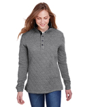 JA8891 J America Ladies' Quilted Snap Pullover