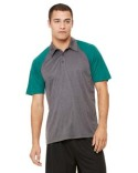 M1829 All Sport Unisex Performance Three-Button Raglan Polo
