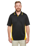M386 Harriton Men's Flash Snag Protection Plus IL Colorblock Polo