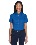 M500SW Harriton Ladies' Easy Blend™ Short-Sleeve Twill Shirt with Stain-Release