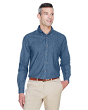M550T Harriton Men's Tall 6.5 oz. Long-Sleeve Denim Shirt