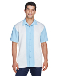 M575 Harriton Men's Two-Tone Bahama Cord Camp Shirt