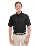 M582 Harriton Men's Foundation 100% Cotton Short-Sleeve Twill Shirt Teflon™