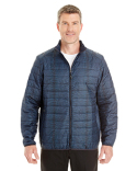 NE701 Ash City - North End Men's Portal Interactive Printed Packable Puffer