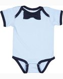 RS4407 Rabbit Skins Infant Baby Rib Bow Tie Bodysuit