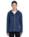 TT38W Team 365 Ladies' Excel Mélange Performance Fleece Jacket