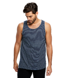US2054 US Blanks Men's Indigo Striped Tank