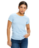 US222 US Blanks Ladies' Short-Sleeve Triblend Crew