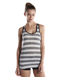 US525 US Blanks Ladies' 3.8 oz. Striped Slub Racer Tank