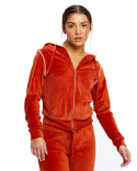 US565 US Blanks Ladies' Velour Full-Zip Hoodie