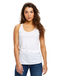 US575 US Blanks Ladies' 3.5 oz. Raw Edge Racer Tank