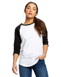 US600 US Blanks Ladies' 4.3 oz., 3/4-Sleeve Baseball Raglan