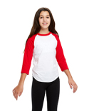US6601K US Blanks Youth Baseball Raglan T-Shirt