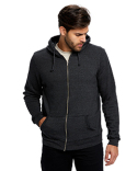 US8010 US Blanks Unisex Heavyweight Loop Terry Full-Zip Hooded Sweatshirt