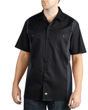 WS508 Dickies Men's Two-Tone Short-Sleeve Work Shirt
